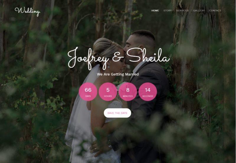 wedding free html5 template