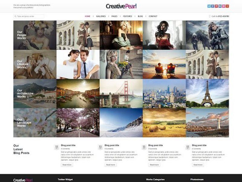 CreativePearl Photography template