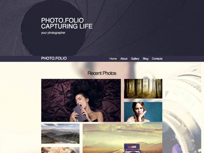 photo folio template