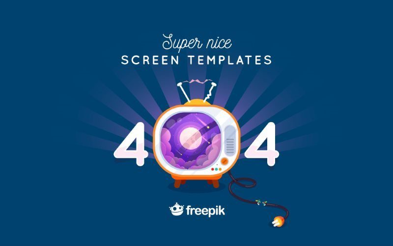 Super Nice Screen Templates for 404 Pages – Free Download