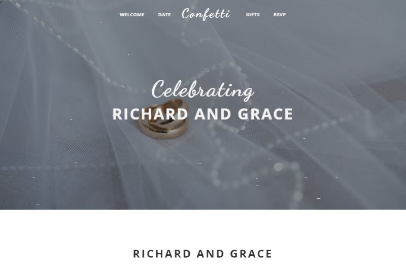 confetti stylish wedding template