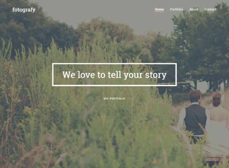fotografy free html5 template