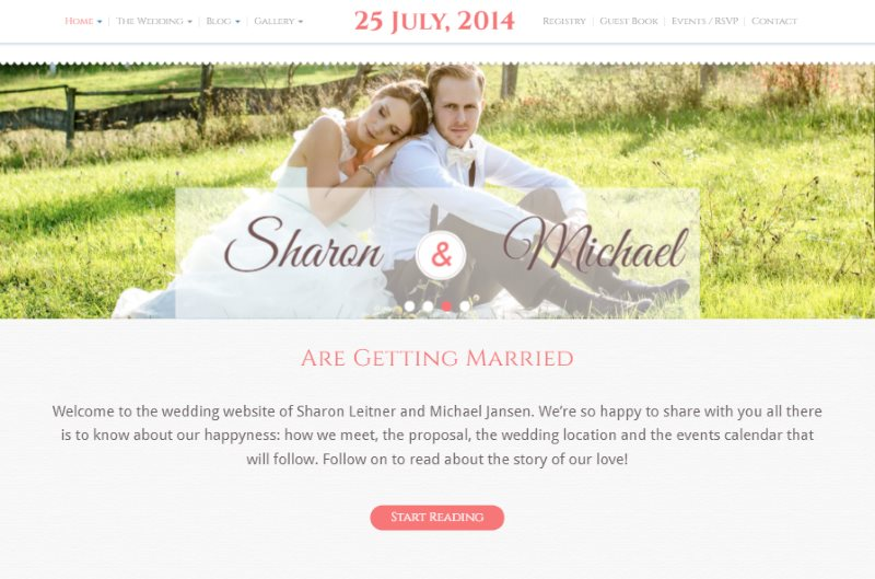15 beautiful wedding website html templates free for Unique wedding registry sites