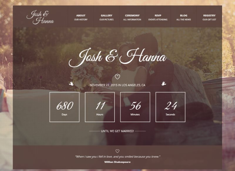 aimer wedding template for lovers
