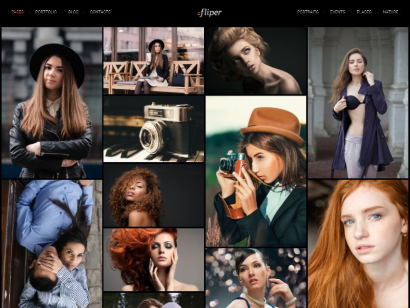 fliper photo fullscreen website template