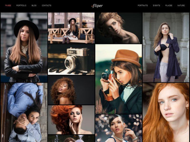fliper photo fullscreen website template