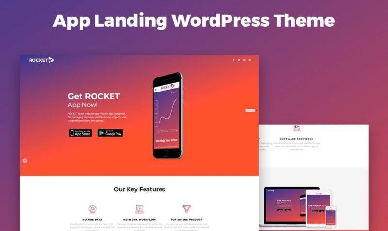 app landing wordpress themes