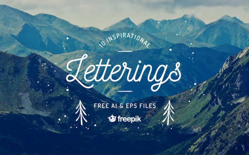 Free Download: 10 Inspirational Letterings Collection (AI, EPS & JPG)