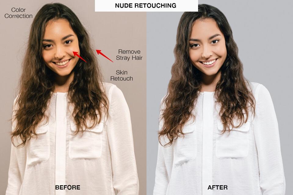 portrait retouching services nude retouching