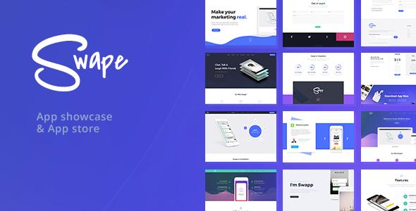 swape app showcase theme