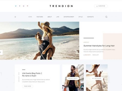 trendion personal lifestyle blog and magazine