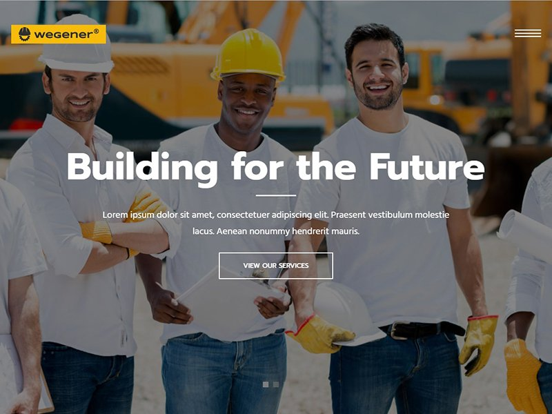 Wegener | Construction & Engineering WP Theme
