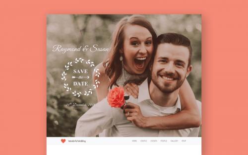 Beautiful Wedding Website HTML Template – Free Download