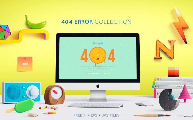 10 Free Modern & Creative 404 Error Page Designs – AI, EPS & JPG