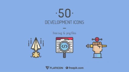 development icons featured