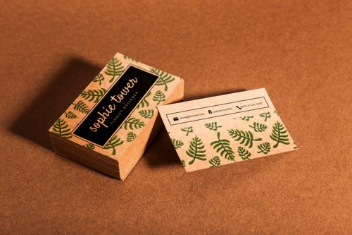 free organic business card mockups psd