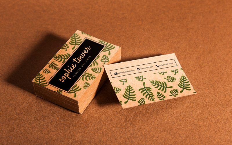 8 Free Organic Business Card PSD Mockups