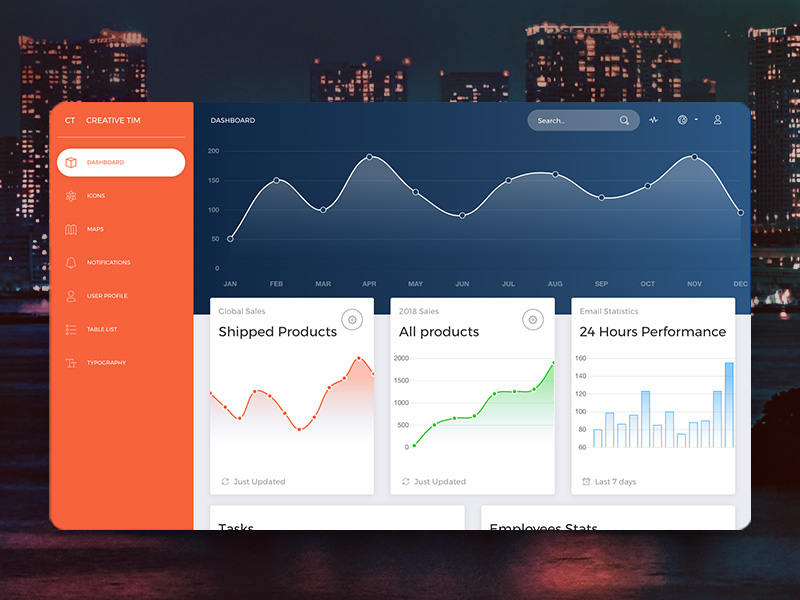 now ui dashboard a free bootstrap 4 admin template super dev resources. Black Bedroom Furniture Sets. Home Design Ideas