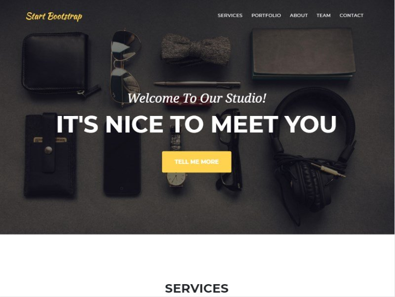 11 agency start bootstrap template