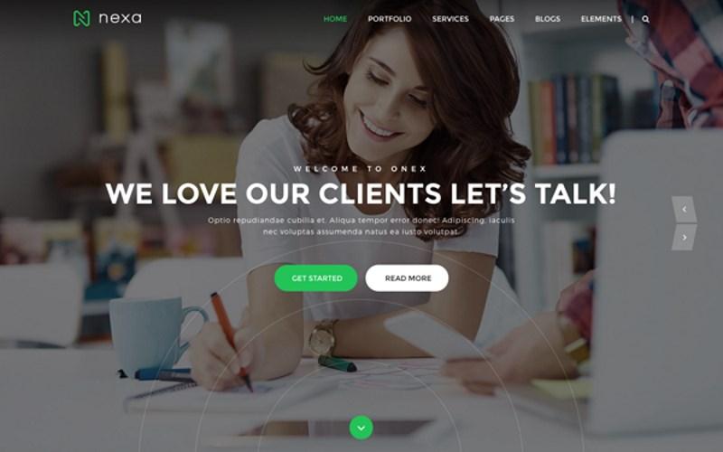 16 nexa creative agency portfolio theme
