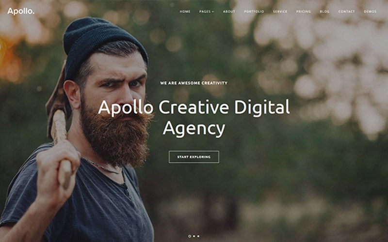 21 apollo one page bootstrap4 template