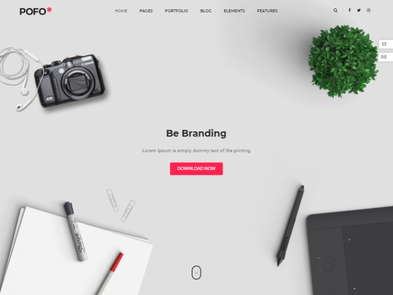 24 pofo creative agency bootstrap template