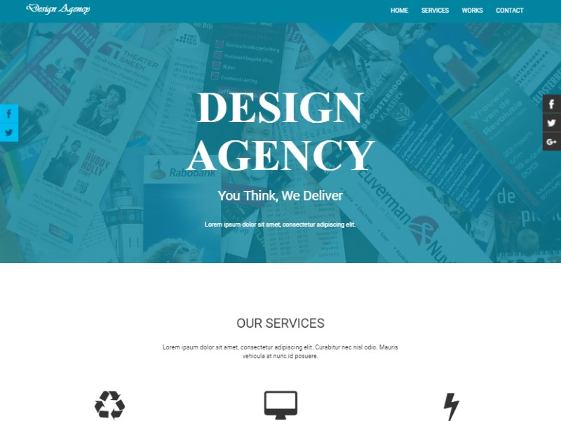 4 design agency free bootstrap corporate template