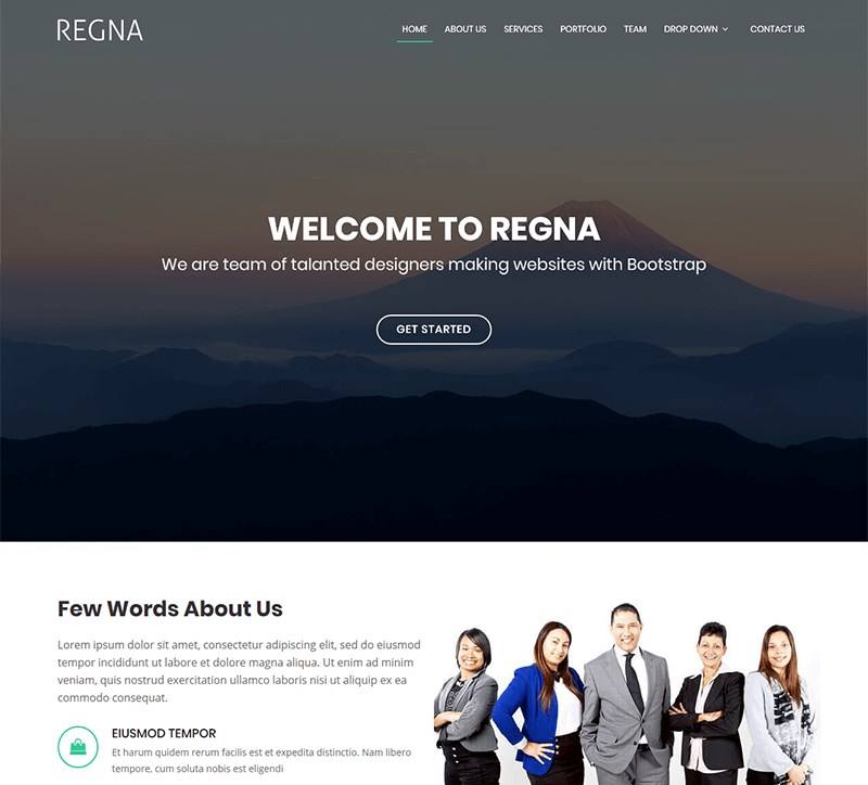 5 regna agency template