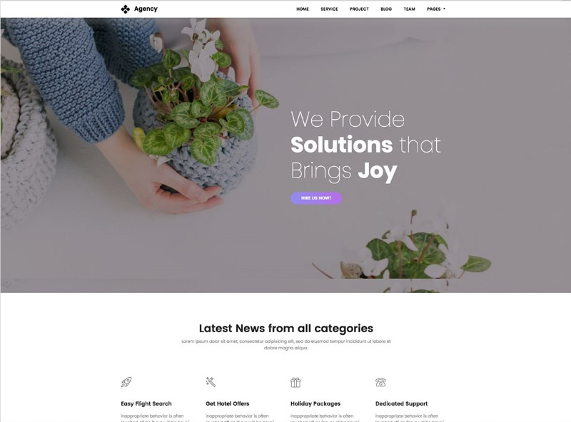 6 creative agency website template