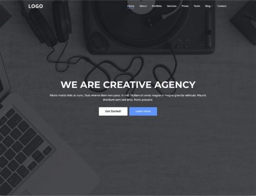7 free creative agency website template