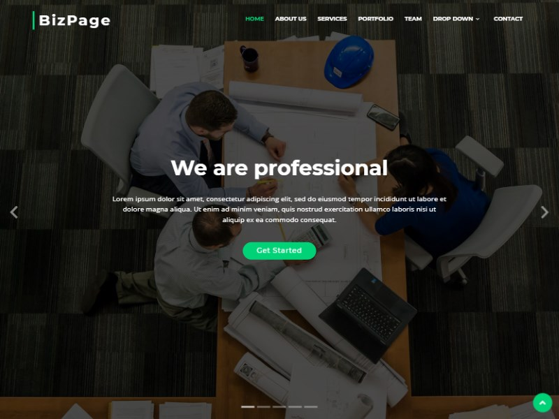 9 biz page bootstrap template