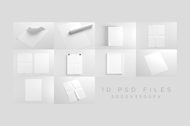 30 Poster Mockup PSD Templates to Showcase your Designs - Super Dev