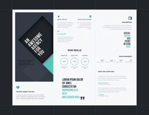agency brochure psd template 1