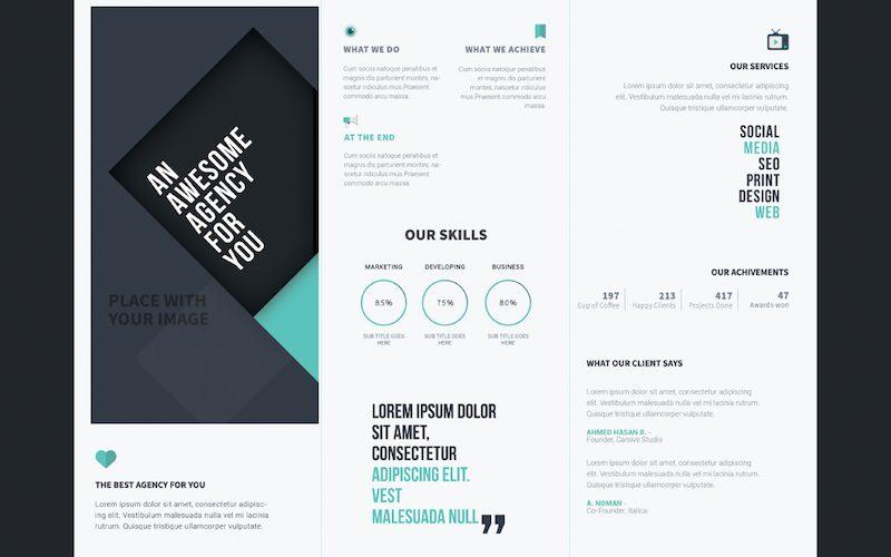 25 Tri-fold Brochure Templates – PSD, AI & INDD (Free & Premium)