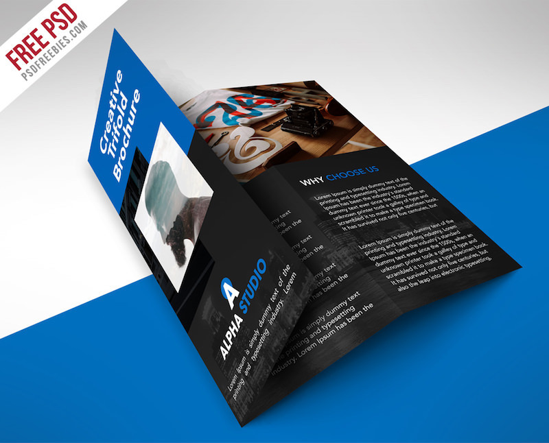 creative agency trifold brochure template 1
