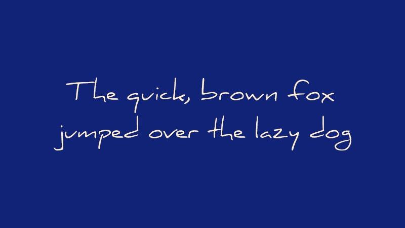 daniel free handwritten typeface 1