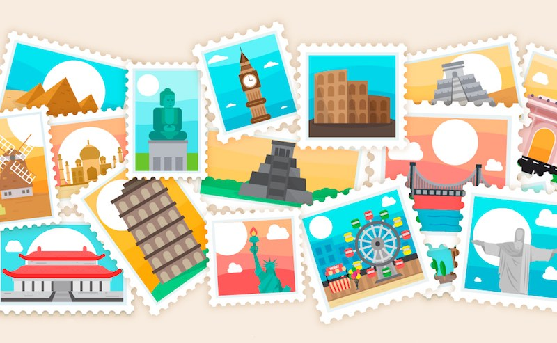 free travel postcards stamps