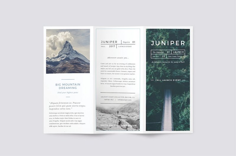 juniper multipurpose trifold brochure template