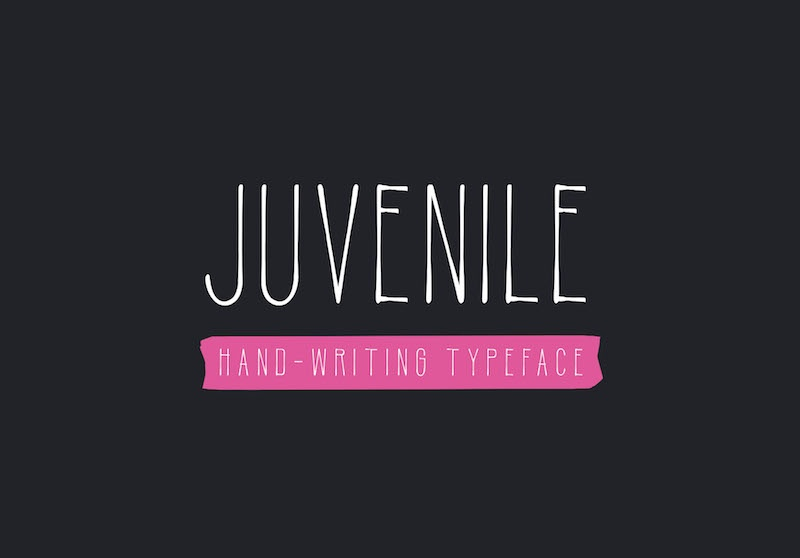 juvenile handwriting font