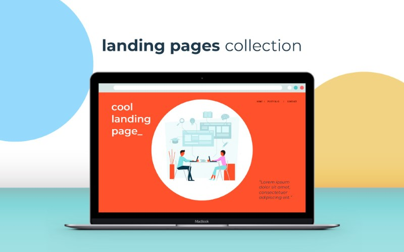 landing page illustrations freebie