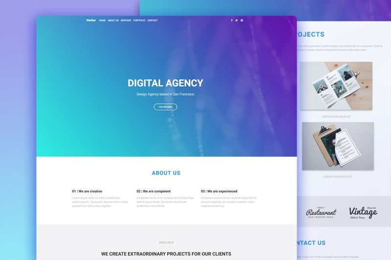 Develop with Vue js, Bootstrap & Material Design using this