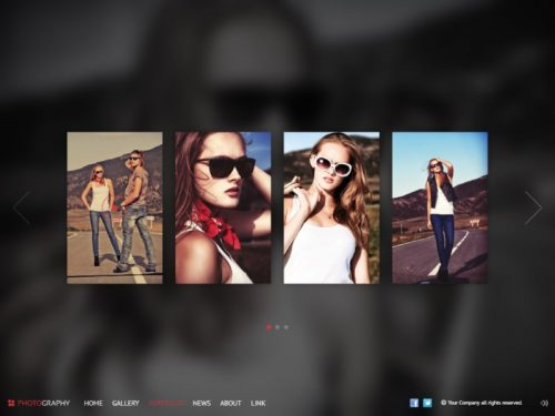 pinetree photography html5 template