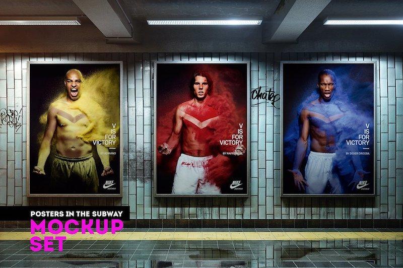 posters subway mockups