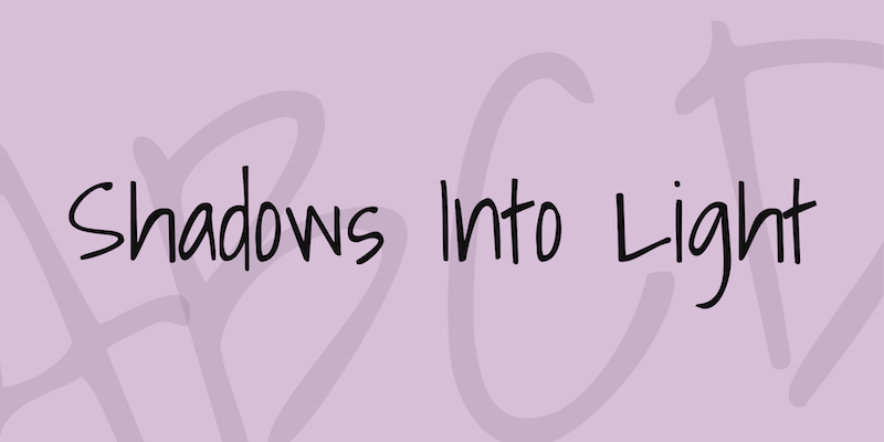 shadows into light font