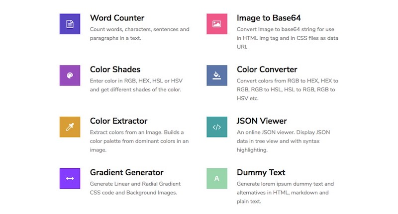 tools for web designers developers