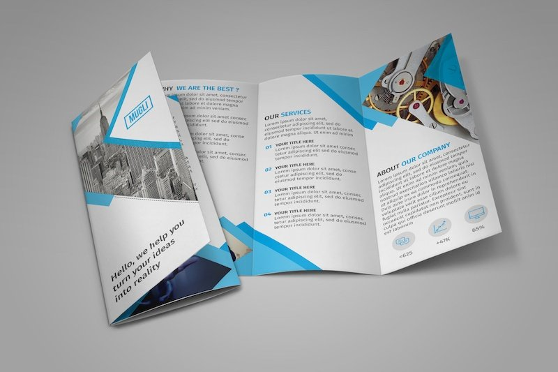 Free trifold brochure illustrator template