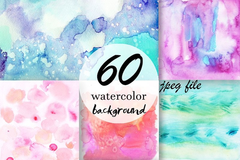 60 watercolor backgrounds