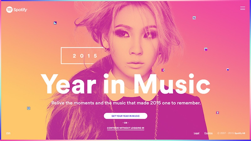 Spotify year in music 2015 Stink Studio