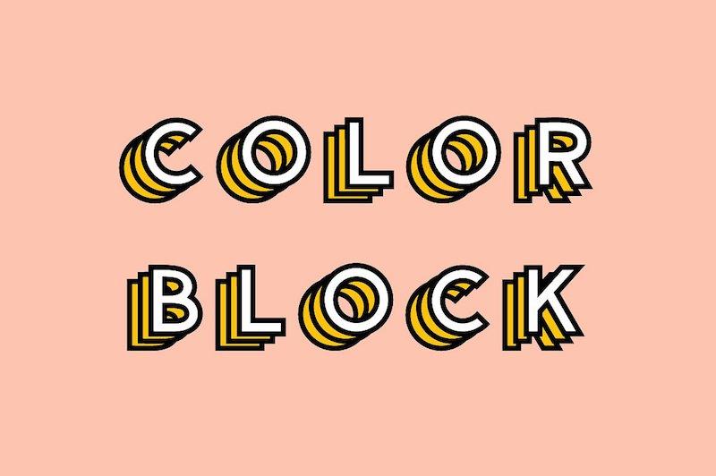 color block color font