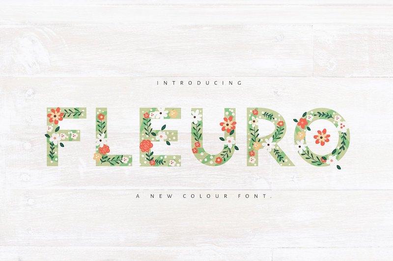 fleuro color font